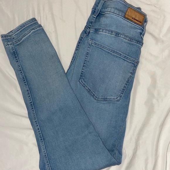 Express jeans light wash